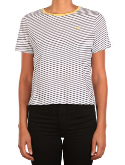 Stripy Flag Tee [black white]