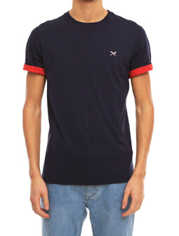 Turn Up Tee [navy red]