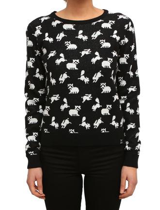 Fluffle Knit [black]