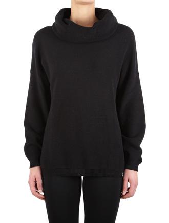 Mock Turtle Knit [black]