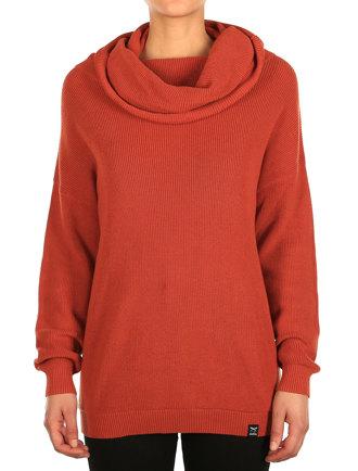 Mock Turtle Knit [earth red]