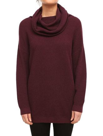 Mock Turtle Knit [maroon]