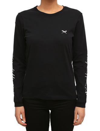 Stay Sleeve print LS [black]