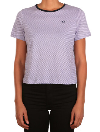 Stripy Flag Tee [lilac]