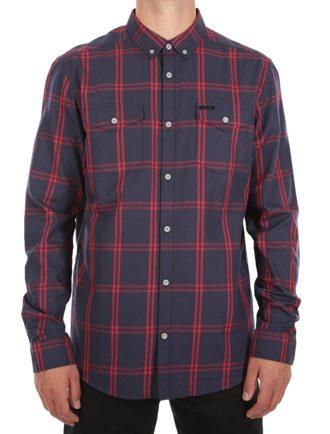 True Bamboo LS Shirt [navy red]