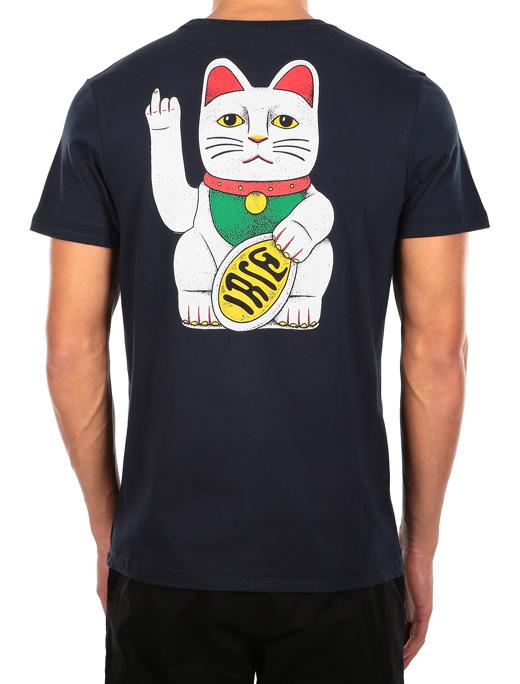 Bye Bye Cat Tee  [navy]