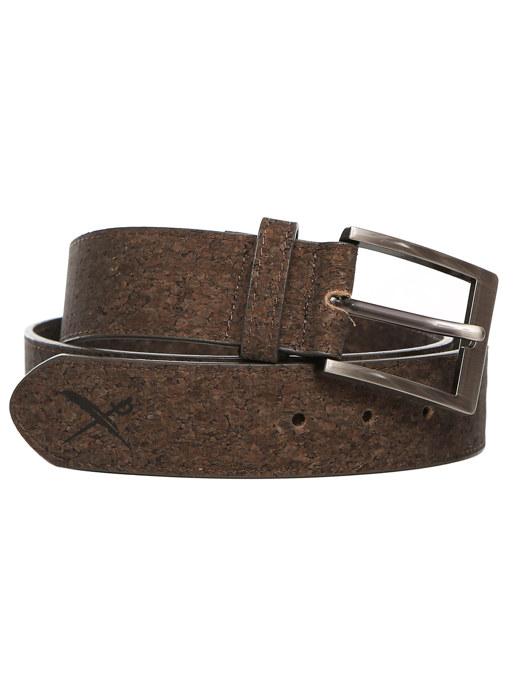 Cork Flag Belt  [d brown]