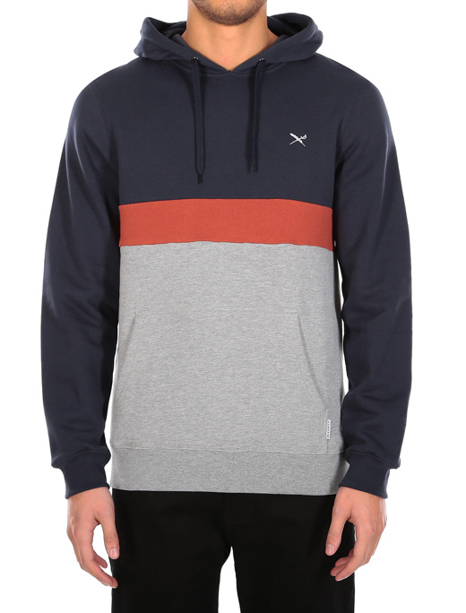 Court 2 Hoody  [navy orange]