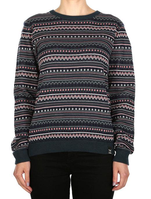 Ethno Stripe Knit  [dark teal]