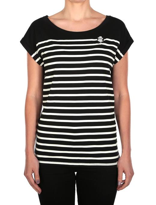 Panda Stripe Tee  [black]