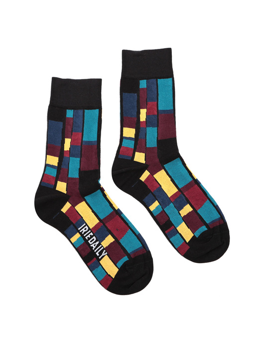 Patcheo Sock  [navy red]