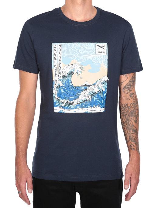 Trash Wave Tee  [navy]
