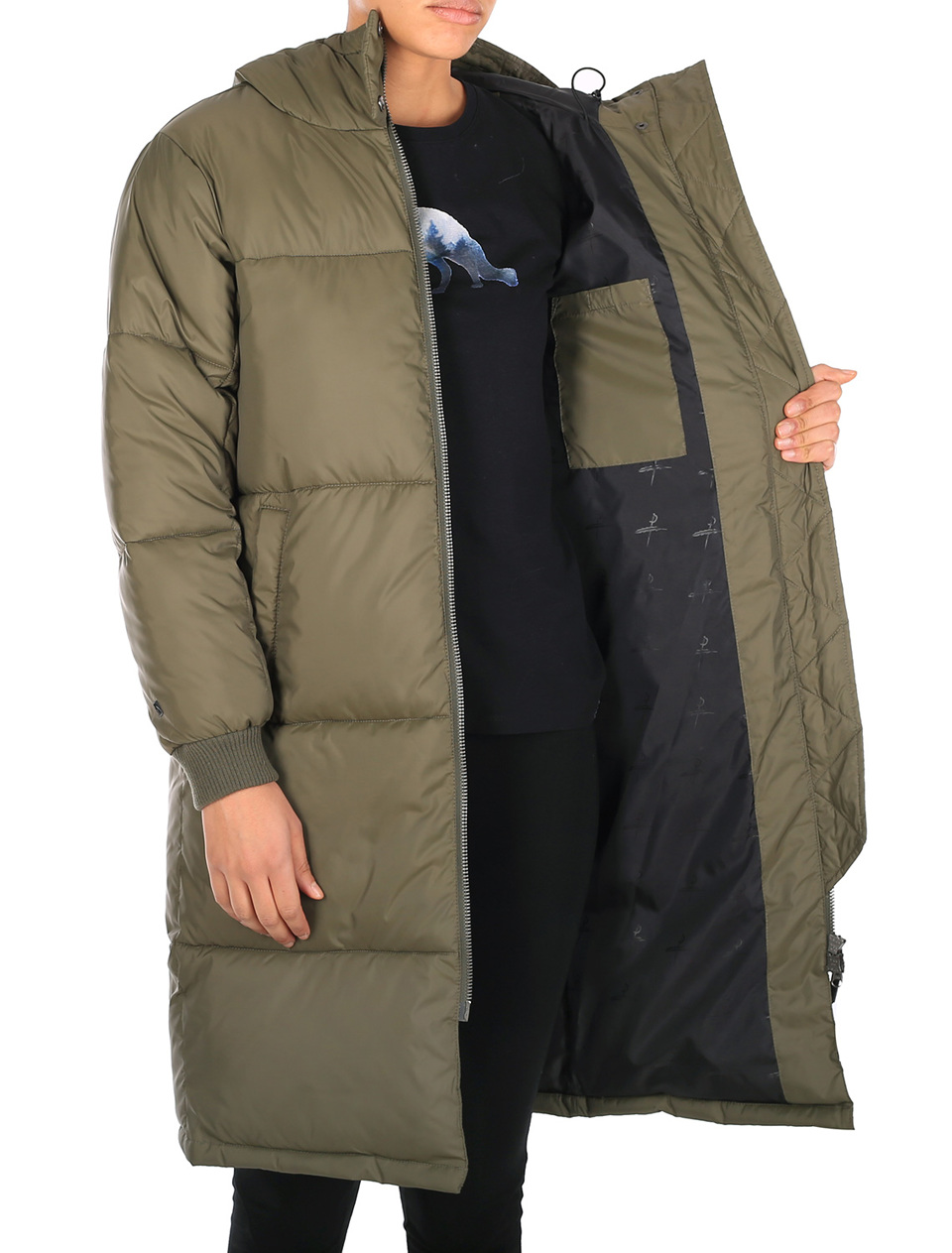 Quilted Coat olive Iriedaily