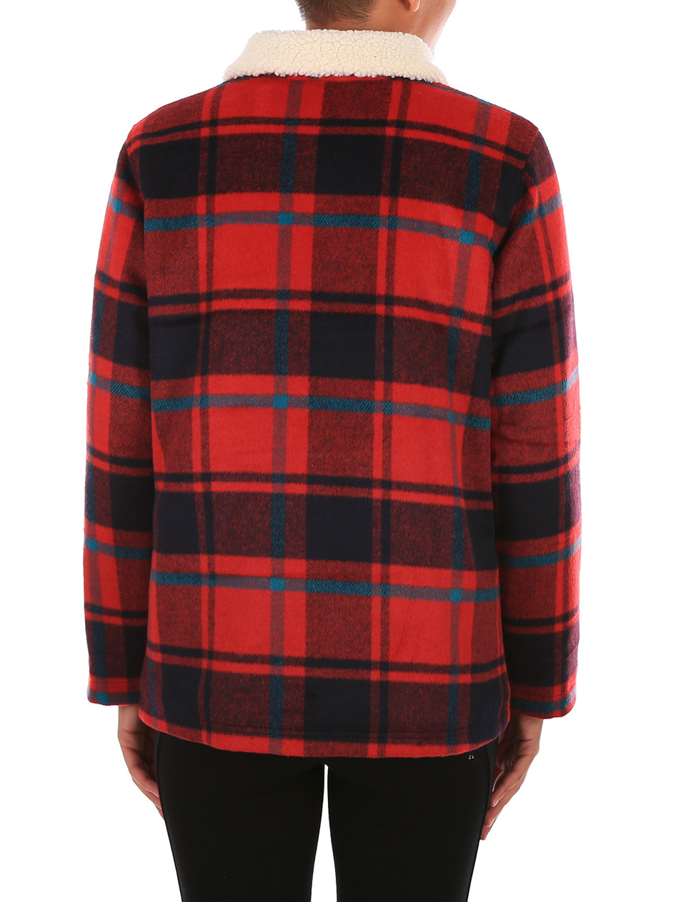 iriedaily plaid team jacket dark red im offiziellen. Black Bedroom Furniture Sets. Home Design Ideas