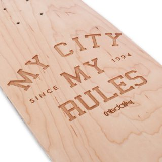 MY CITY, MY RULES BOARD - DESIGN BY BRAND NEW HISTORY - LASERWORK BY PAPERLUX