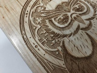 MIGHTY OWL BOARD - DESIGN BY GOODMOOD - LASERWORK BY PAPERLUX
