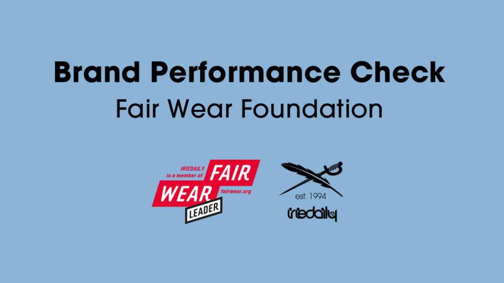 IRIEDAILY Brand Performance Check Fair Wear Foundation