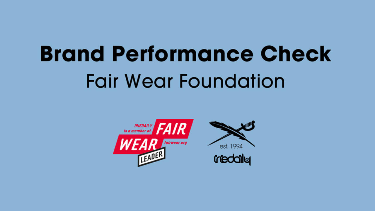 IRIEDAILY Brand Performance Check Fair Wear Foundation