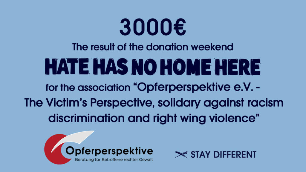 Opferperspektive Spendenaktion IRIEDAILY